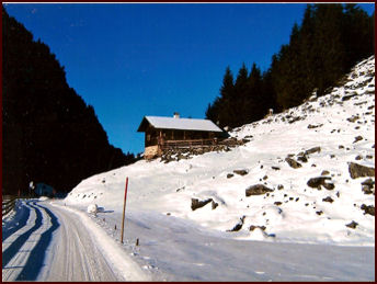 Zollhütte Zillergrund - Holiday cabin in winter